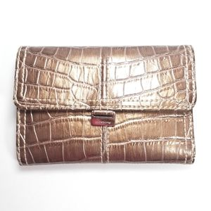 Liz Claiborne Bronze Leather Wallet Never Been Use
